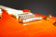 Electric  red guitar Stock Photos