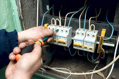 Electric repairs Stock Photos