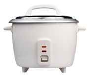 Electric rice cooker isolated on white Stock Photos