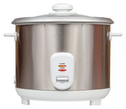 Electric rice cooker isolated on a white background Stock Image