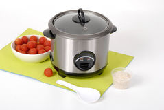 Electric rice cooker. A modern electric rice cooker Stock Images