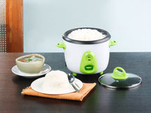 Electric rice cooking pot Stock Photos