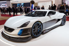 Electric Rimac Concept S car Stock Photography