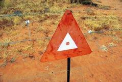 Electric ring fence, Australia Stock Photo