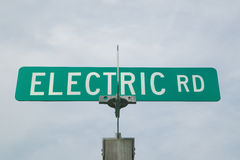Electric road sign in Charlottesville, Virginia Stock Photography