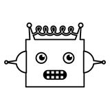 Electric robot avatar character Stock Photography