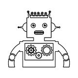 Electric robot avatar character Royalty Free Stock Photo