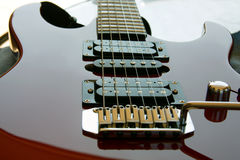 Electric Rock Guitar reflective Stock Photos