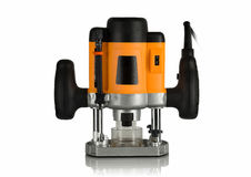 Electric router for woodworking Royalty Free Stock Photo
