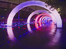 Electric Run Light Archs Stock Photo