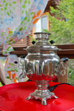 Electric samovar, Russian traditions Royalty Free Stock Image