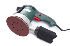 Electric sandpaper tool for home handyman use, isolated over . Stock Photos