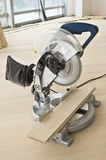 Electric saw. In the working environment Stock Photography