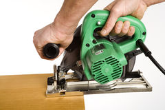 Electric saw royalty free stock photos