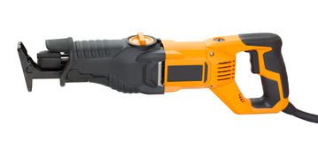 Electric saw for home handyman use Royalty Free Stock Images