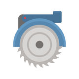 Electric saw vecto illustration. Royalty Free Stock Photos