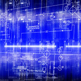 The electric scheme. Of automation of connection of a power electric equipment Stock Images