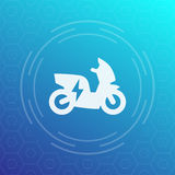 Electric scooter icon, pictogram. Eps 10 file, easy to edit Stock Images