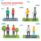 Electric scooters Stock Image
