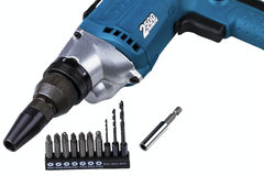 Electric screw-driver Royalty Free Stock Photos