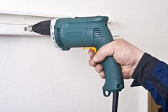 Electric screwdriver Royalty Free Stock Photography