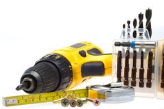 Electric screwdriver Stock Images