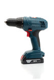 Electric screwdriver. Isolate on white background. Royalty Free Stock Photos