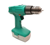 Electric screwdriver isolated Stock Image
