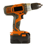 Electric Screwdriver. Isolated on a white background Royalty Free Stock Images