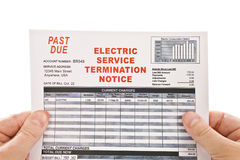 Electric Service Termination Notice Royalty Free Stock Images