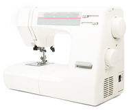 Electric sewing machine on white background Stock Image