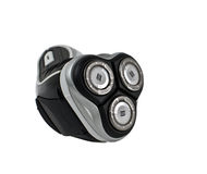 Electric shaver. Wireless electric shaver front view on white background Royalty Free Stock Photo