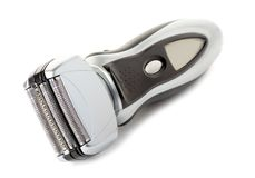 Electric shaver. On white background Stock Photo