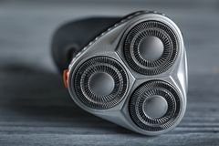 Electric shaver for man. On grey background Stock Images