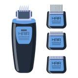 Electric shaver razor vector. Stock Photos