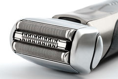 Electric shaver. On white background, isolated close-up Stock Images