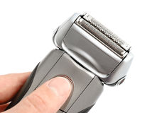 Electric shaver on white background Stock Photo