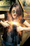 Electric Shock Royalty Free Stock Photos