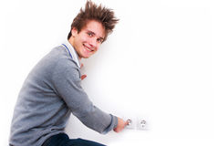 Electric shock Stock Photos