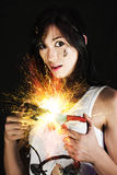 Electric Shock Power Surge Stock Image