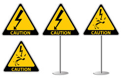 Electric shock risk sign Royalty Free Stock Photo