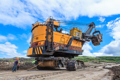 Electric Shovel move Stock Image