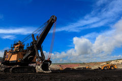 Electric Shovel in Open Pit Stock Photo
