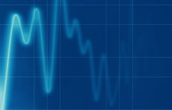 Electric signal. Electric blue wave signal electro cardiogram background Royalty Free Stock Image