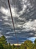 Electric Sky Over Electric  Lines Royalty Free Stock Image