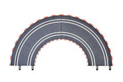 Electric Slot Car Track. A studio photo of an electric slot car set Royalty Free Stock Images