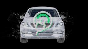 Electric smartcar concept on a background 3d rendering. View of a Electric smartcar concept on a background 3d rendering Stock Images