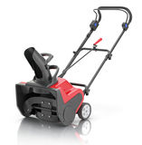 Electric snow blower. Red-black electric snow blower on white reflective background royalty free illustration