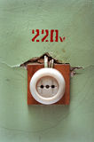 Electric socket Royalty Free Stock Photography