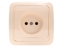 Electric socket. The electric socket isolated on a white background Stock Photo